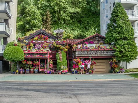 house of floral designs crazy flower house nestled between condos alki beach in west seattle washington