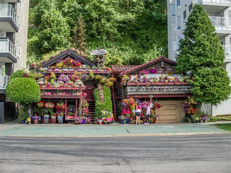 Home Interior Design Mag crazy flower house nestled between condos alki beach in