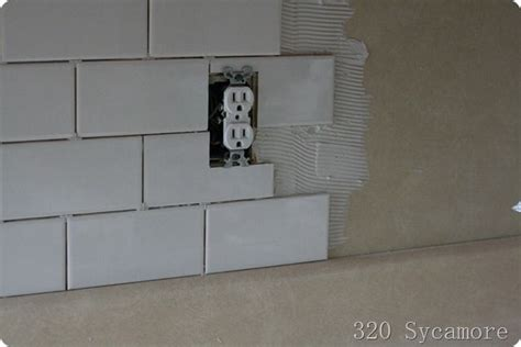how to do backsplash around outlets 25 best ideas about kitchen outlets on