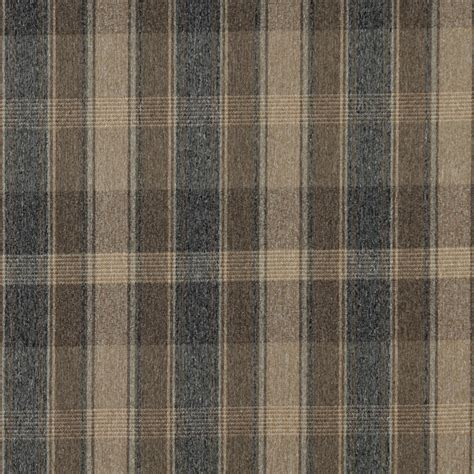 Country Upholstery Fabric by Brown Blue And Beige Large Plaid Country Upholstery
