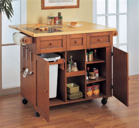 kitchen island trash kitchen island cart with trash bin