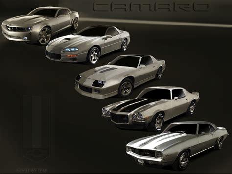 camaro styles by year evolution of the chevrolet camaro
