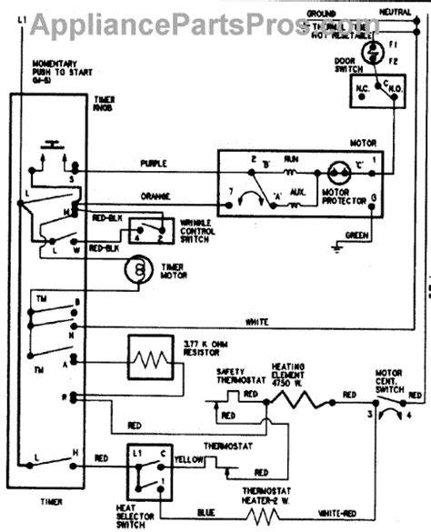 ned5240tq0 amana dryer wiring diagrams 28 images