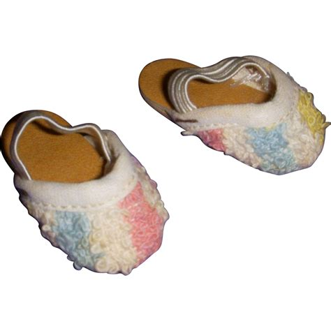 1950s slippers vintage 1950s hoyer doll slippers from