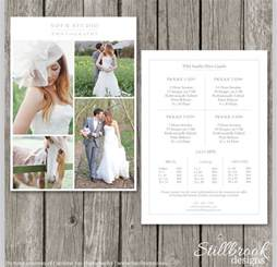 photography price list template sample templates