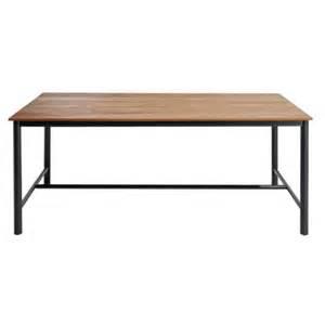 fly table de jardin carrefour table de jardin indus m 233 tal et bois marron 190cm x 74cm x 99cm pas cher achat