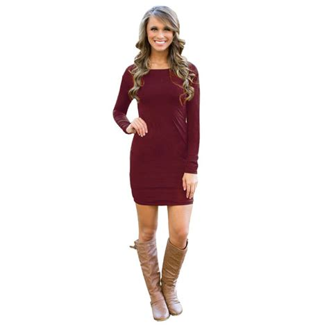 lade low cost stylish low cost bodycon sleeve mini