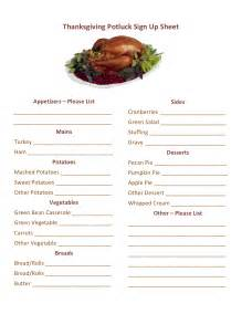 potluck sign up sheet search results