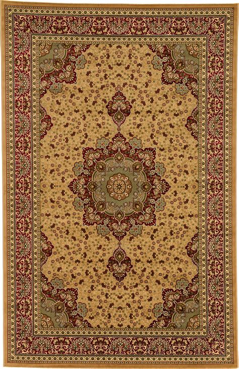 Area Rug 5 X 6 6 5 X 9 6 Kashan Design Rug Traditional Area Rugs New Classic Carpet