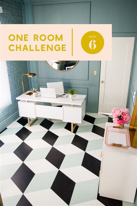 one room challenge one room challenge week 6 diy tumbling block painted tile the house that lars built
