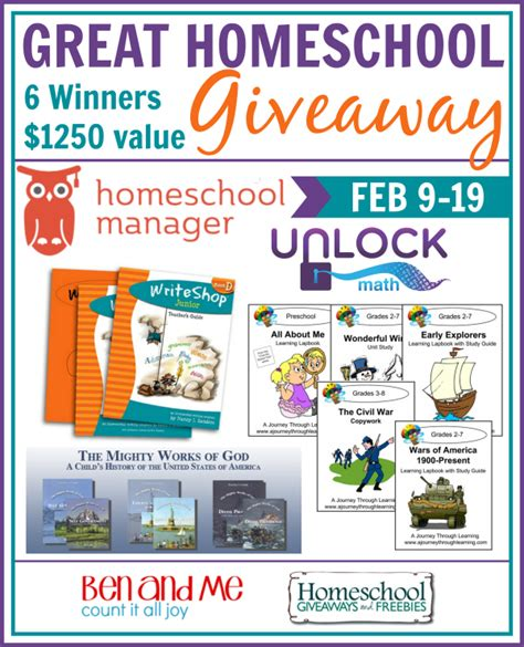 Grand Prize Giveaway - great homeschool giveaway february edition my joy filled life