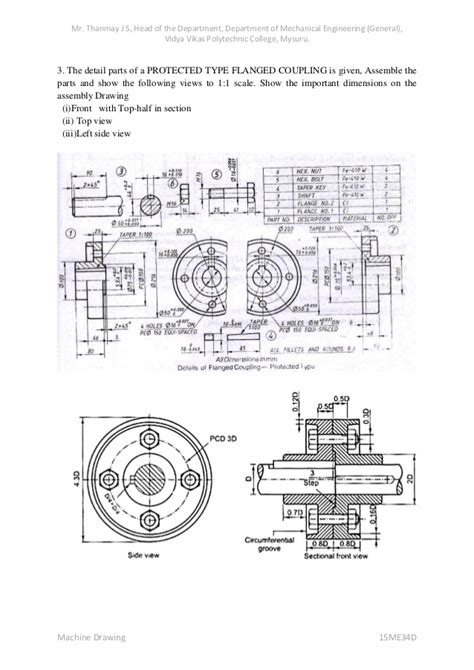 sectional views in machine drawing machine drawing notes 15 me34d