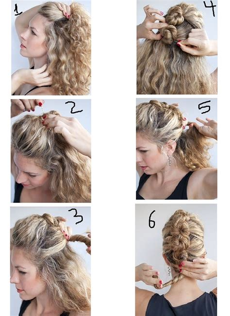 Curly Hair Updos Step By Step | how i can style my curly hair with easy steps at home