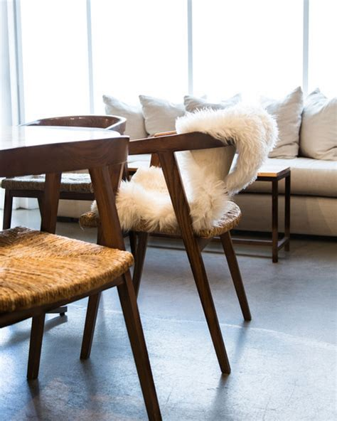 sheepskin throw for rocking chair kayne photos design ideas remodel and decor lonny