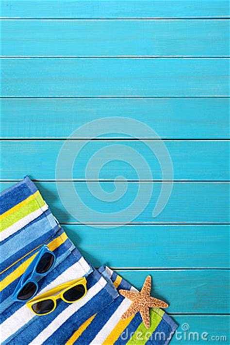 Chliya Travel Towel Weathered Blue summer background border sunglasses copy space