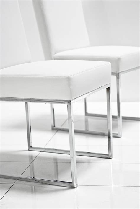 White Leather Dining Chairs Www Roomservicestore 007 Dining Chair In White Leather
