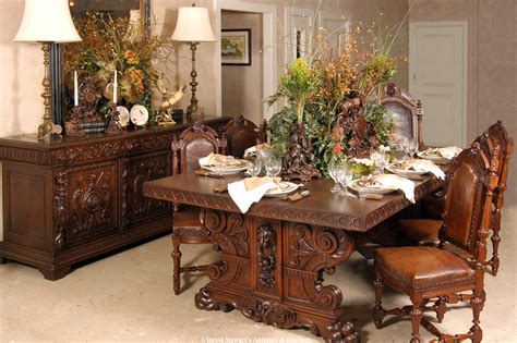 Antique Dining Room Furniture by Lavish Antique Dining Room Furniture Emphasizing Classic