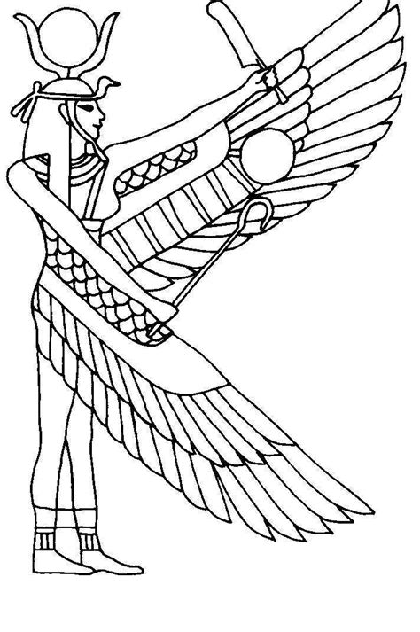 printable egyptian art ancient egyptian coloring pages coloring home