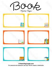 Book Labels Template by Free Printable Book Name Tags The Template Can Also Be