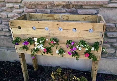 Pallet Flower Planters by Pallet Planter Box For Cascading Flowers Tool Belt