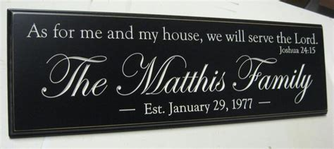 as for me and my house sign as for me and my house joshua 24 personalized family name sign plaque carved sign