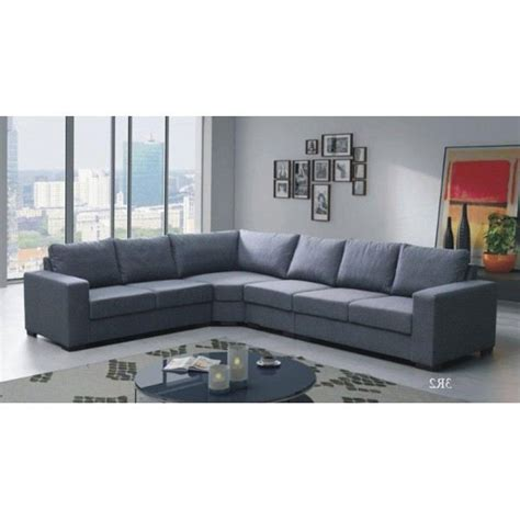 canape angle 6 places canap 233 d angle 6 places lili gris angle gauche achat