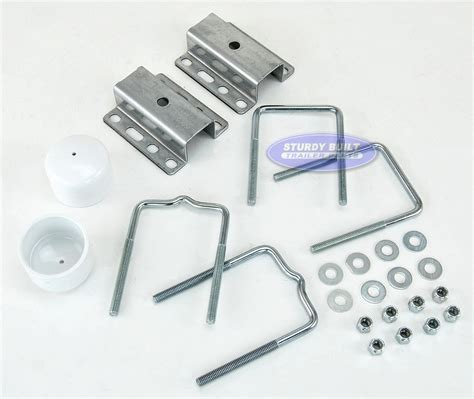 boat trailer universal guide pole and post mounting u bolt kit - Universal Boat Trailer Guides