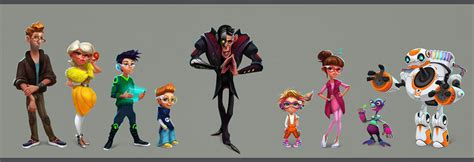 unique characters four eyed character design on behance