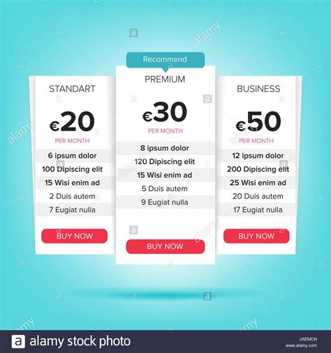 Price Chart Template Pertamini Co Pricing Options Template