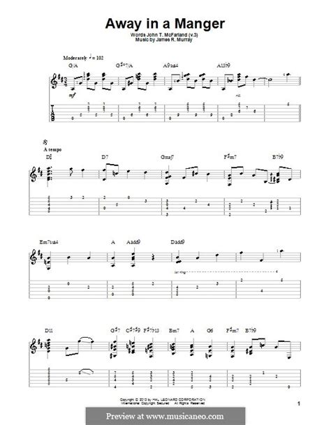printable lyrics to away in the manger away in a manger by j r murray sheet music on musicaneo
