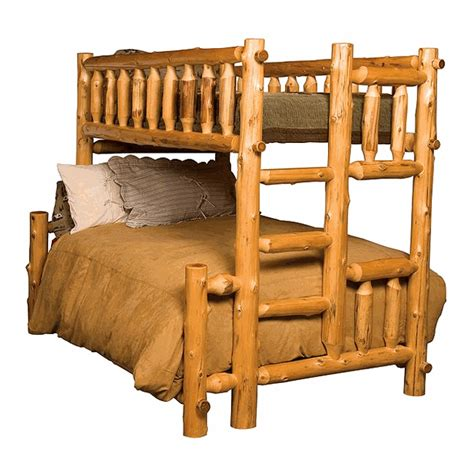 cedar log bed cedar log bunk bed twin full left ladder