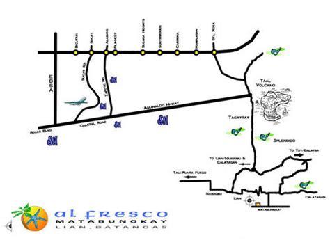 matabungkay resort map al fresco resort in batangas matabungkay resort