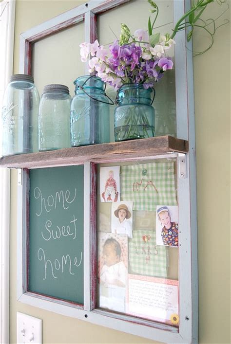 thrifty decorating turn an old window into a pot rack 36 stylish primitive home decorating ideas decoholic