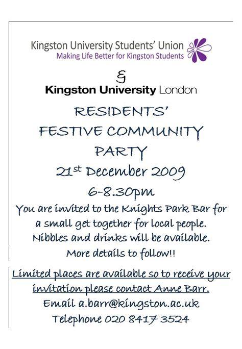 Invitation Letter For Freshers In College Sgra Kingston News