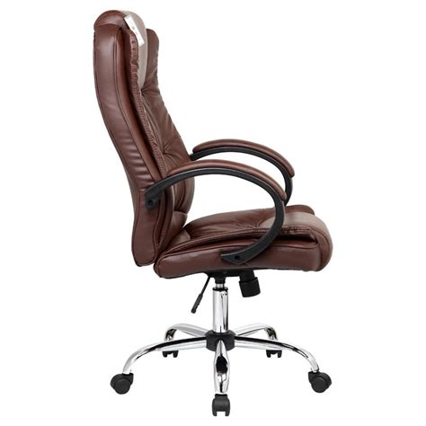 brown leather executive desk chair santana brown high back executive office chair leather
