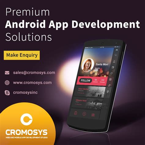 developing android apps cromosys offers outstanding android app development services cromosys technologies prlog