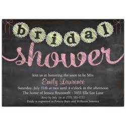 Shower Invites by Chalk Banner Bridal Shower Invitations Paperstyle