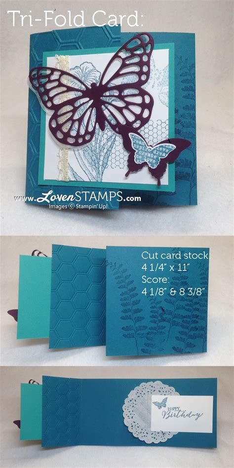 how to make a tri fold card quot try quot something new with a a tri fold card lovensts