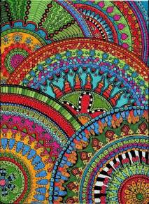 zentangle color color zentangle zendalas circle halves