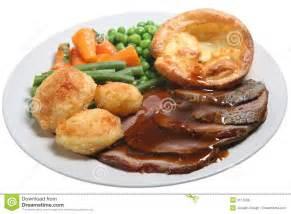 sunday roast beef dinner royalty free stock photos image