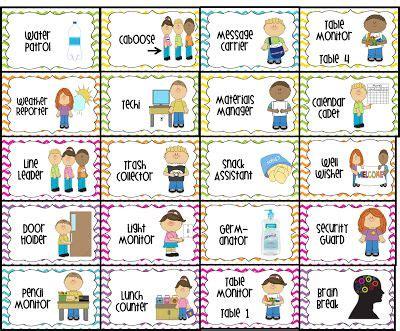 printable job labels free classroom job chart labels water patrol 2