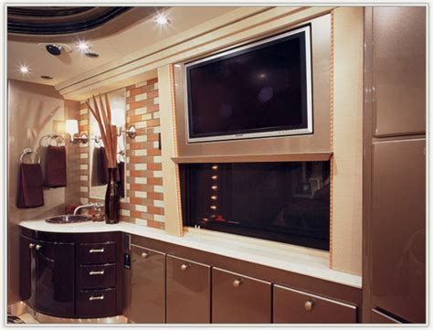 Custom Bedroom Vanity by 2007 Country Coach Prevost Conversion Class A Rvweb