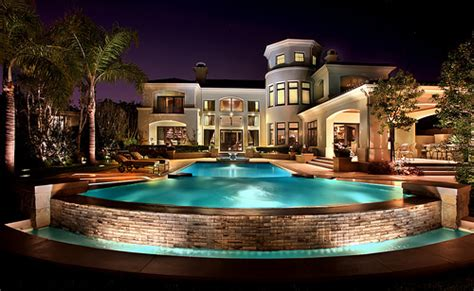 cool houses with pools beautiful house lights mansion pool image 429636 on