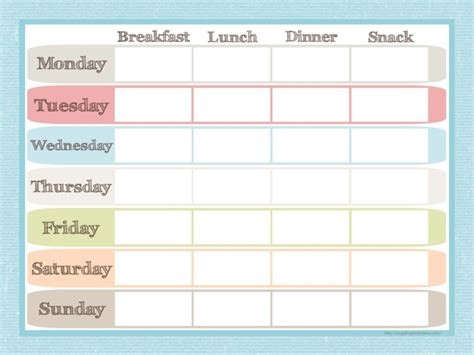 menu planner template free meal planner printable my