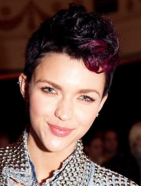 fohawk with red highlights short fauxhawk hairstyle with red highlights hairstyles
