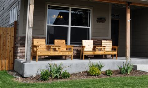 porch furniture free patio chair plans how to build a double chair bench