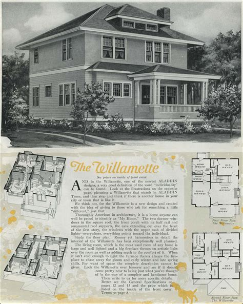 1920s home plans 1920 houses classic foursquare the willamette