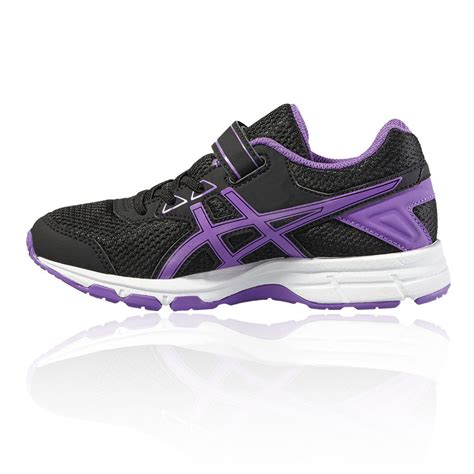 black and purple asics running shoes shoes asics gel galaxy 9 ps junior running shoe