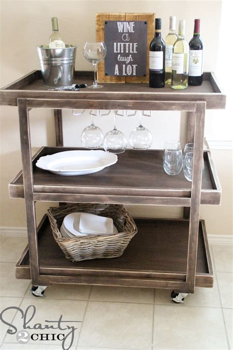 Diy Kitchen Shelving Ideas diy bar cart shanty 2 chic