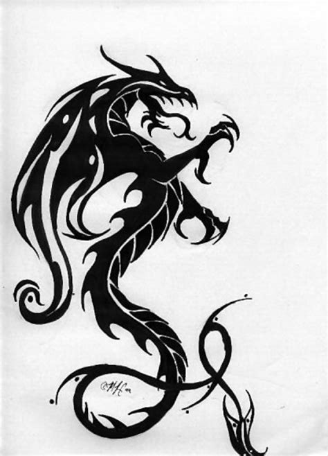 gothic dragon tattoo designs black ink design